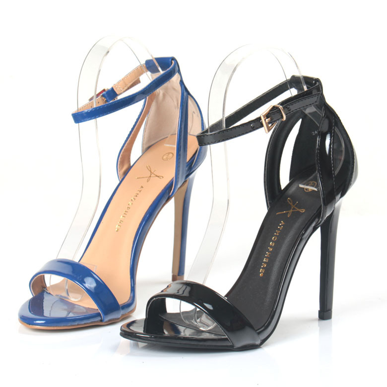 New women sandals European style new summer shoes Sapphire  Black with open-toed high with the word sexy and elegant sandals