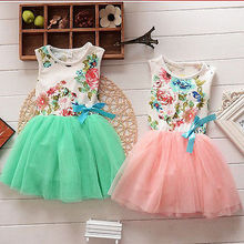 Princess Girls Baby Kids Floral Tops Fancy Tutu Dress Tulle One-pieces 1-5Y Hot Sale 2016
