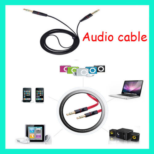 100cm male to male 3.5mm Stereo Aux Audio Cable to speaker for iPhone iPad iPod MP3 itouch 5(China (Mainland))