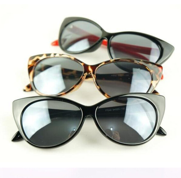 2015 fashion sunglasses retro style lunette de soleil women black frame cat eye sunglasses What style glasses are in fashion 2015