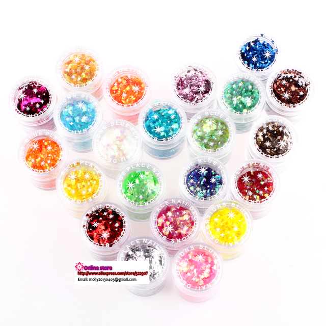 12x20g/pot,24colors new arrival shinning acrylic nail art glitter powder, free shipping