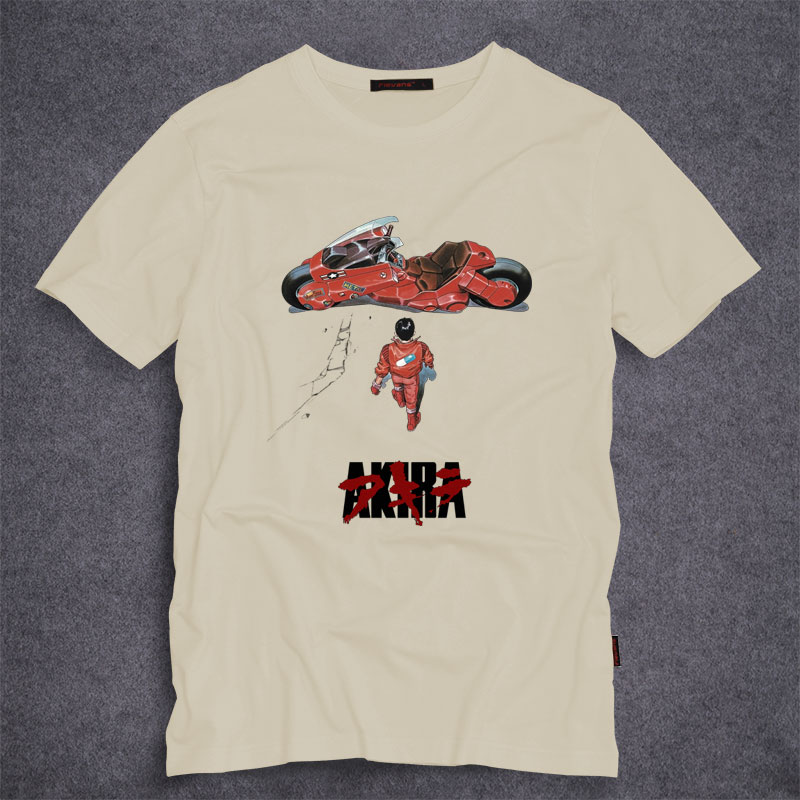 Akira Shotaro Kaneda Bike The Capsule Motorcycle Japanese Anime Film T-shirt Tee Mens Cotton Summer Adults T Shirt S-5XL(China (Mainland))