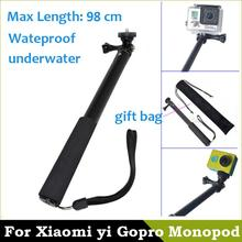 Waterproof Monopod Tripod Extendable Handheld Monopod pau de selfie Stick Monopod for GoPro Hero 4 3 xiaomi yi Accessories