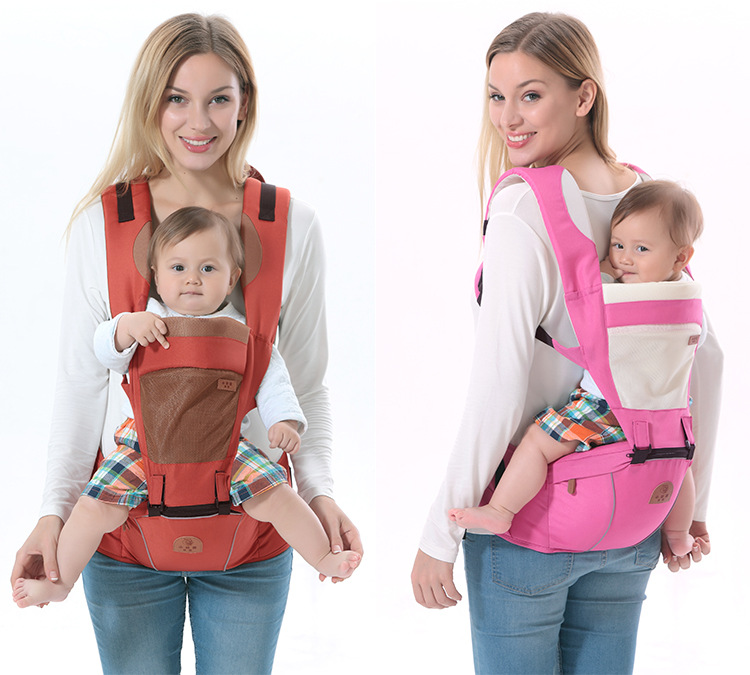 Multifunctional Comfortable Ergonomic Baby Backpack Carrier Wrap Sling with Tabouret Baby Kangaroo Bag Hipseat Porte Bebe<br><br>Aliexpress