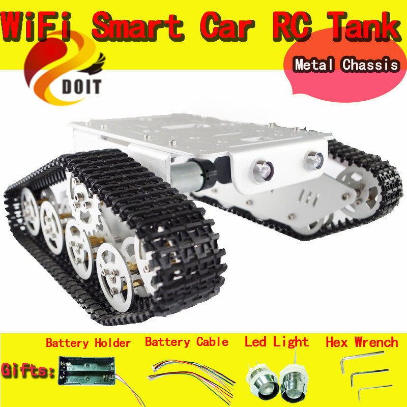 Official DOIT RC Metal Tank Chassis Wall Caterpillar Tractor Robot Wall-E Crawler Wall Brrow Land Car DIY RC Toy Remote Control(China (Mainland))