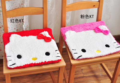 Cute Hello Kitty Seat Cover Car Office Seat Chair Support Pink Red Seat Covers(China (Mainland))