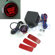 A96 Free Shipping 12V Car Engine Start Push Button Switch Ignition Starter Kit Red LED Universal(China (Mainland))