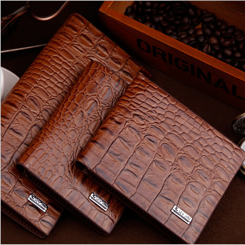 Hot sales New Wallet 100%genuine leather male wallet short/long design first layer cowhide purse horizontal vintage men wallets(China (Mainland))
