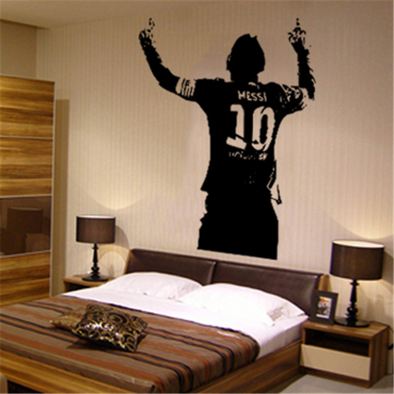 Removable Vinyl Wall Sticker PVC Football Player Art Design Cheap Home Decoration House Decor Soccer Sports Decals In Room(China (Mainland))
