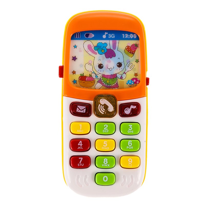 New Electronic Toy Phone Kid Flashing Sounding Mobile Phone Cellphone Telephone Educational Toys Gift FCI#(China (Mainland))