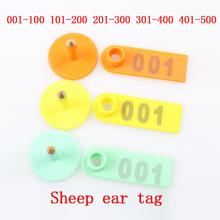 No. 1-500 Sheep ear tag Signs with the word ear Laser Typing Copper head earrings Farm animal identification card Free shipping