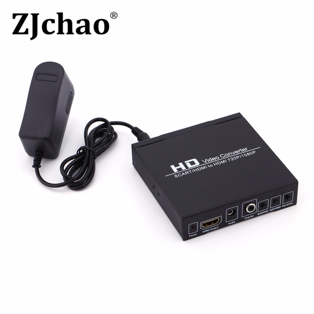 Scart/HDMI to HDMI 720P 1080P HD Video Converter Monitor Box For HDTV DVD STB(China (Mainland))