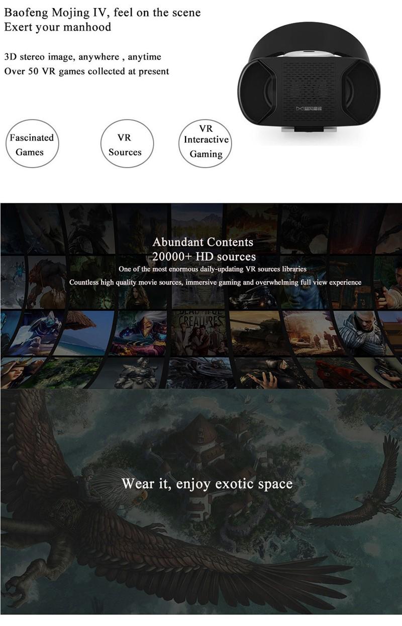 ถูก B aofeng Mojing 4 IV iiii Androidความจริงเสมือนมาร์ทโฟน3D VRแว่นตาGafasความจริงเสมือนแว่นตา3DวิดีโอB Aofengพายุ