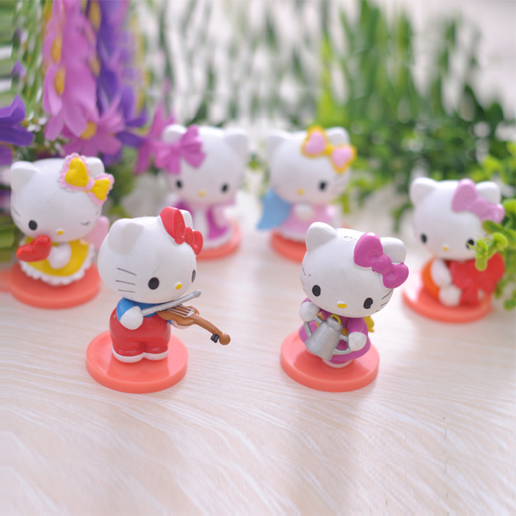 Miniature Toys For Boys : Cute hello kitty toys action figure mini dolls for