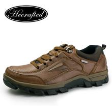 Big size Vintage Full Genuine leather men boots,autumn boots,men hiking boots#WZDX(China (Mainland))