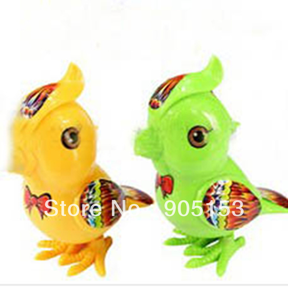 1 Mix Color Wind Up Jumping Bird Clockwork Toy Xmas Gift Kids Child Party Favor(China (Mainland))
