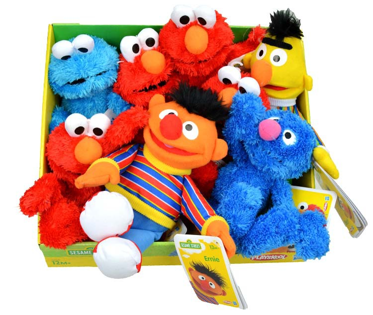 (8 pieces/lot) soft plush doll stuffed toy Sesame Street cookie monster elmo ernie...baby kids best gift 23cm free shipping(China (Mainland))
