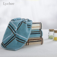 Buy Lychee 1 piece Simple Checked Square Towel 35*74cm Cotton Plaid Face Towel Bath Towel Swim Towel Home Textile for $4.59 in AliExpress store
