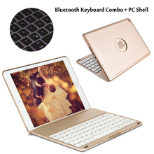 7 Colors Backlit Light Wireless Bluetooth Keyboard Case Cover For iPad Air / Air 2 For iPad 5/ iPad 6 For iPad Pro 9.7 + Gift(China (Mainland))