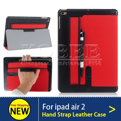 Luxury PU Leather Case For iPad Air 2 Arm Band Loud Speaker Magnetic Smart Cover Stand Flip Case for ipad Air 2 2014 NEW fashion<br><br>Aliexpress