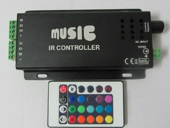 NEW Black Music IR Controller For RGB 5050/3528 SMD LED Lights Strip Anode