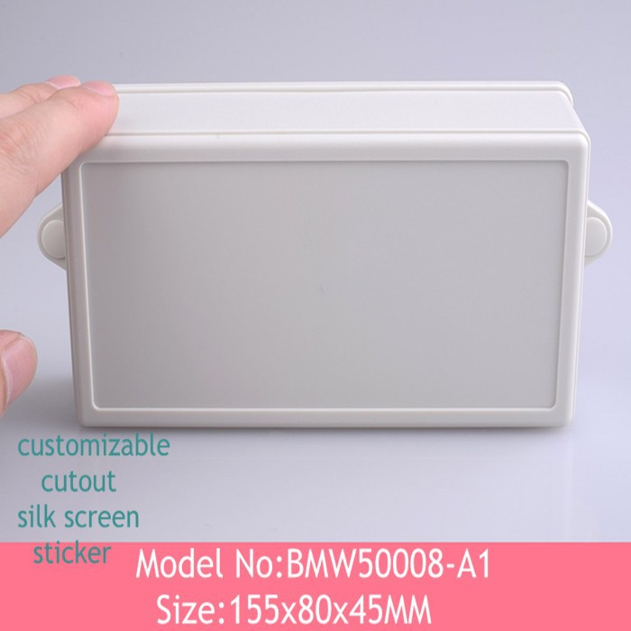 (5pcs) white wall mounting  plastic enclosure instrument  abs project enclosure box case 155*80*45mm<br><br>Aliexpress