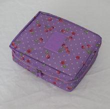 Waterproof Portable Polyester Travel Cosmetic Bag Neceser Hanging Wash Bag Neutral Make Up Bag Organizer Bathroom Wash Bag(China)