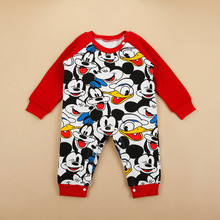 Full Printed Cartoon Baby Jumpsuit Climbing Clothes Children'S Clothing 2015 New Korean Explosion Models F Romper Lint	TO3044(China (Mainland))