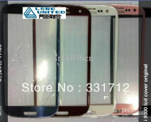 For Galaxy S3 i9300 glass digitizer touch panel with flex cable colorful