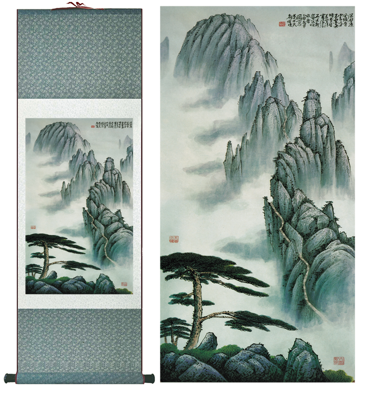 landscape painting Chinese art Painting Home Office Decoration Chinese painting 2015012118(China (Mainland))