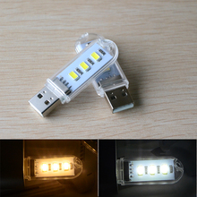 Mini usb light SMD5730 3leds USB Bulb Lamp For Reading/Camping Lights USB Gadget for Notebook Laptop Mobile Power Lighting()