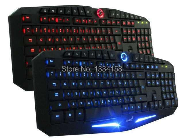 100% Original Genius K9 USB LED Illuminated Ergonomic Backlight Back Light Professional Pro Gaming Game Keyboard For Gamer(China (Mainland))