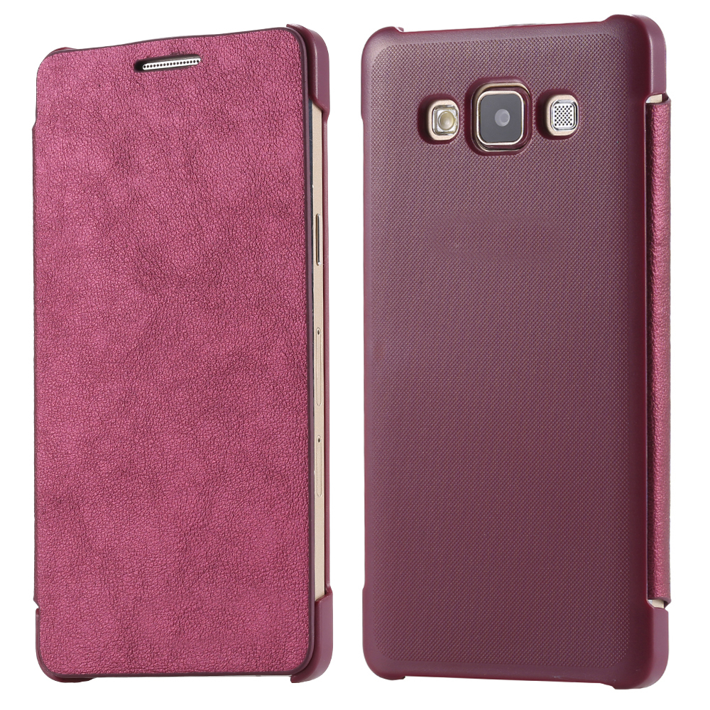 Гаджет  High Quality Luxury Slim Flip PU Leather Mobile Phone Case For Samsung Galaxy A5 A500 A5000 A500F Simple Fashion Holster Cover None Телефоны и Телекоммуникации