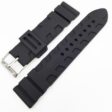 2016 Hot Universal Rubber Link Bracelet Wrist Strap 22mm 24mm Silicone Watchband Fit For Apple Watch Moto 360 42mm Smartwatch