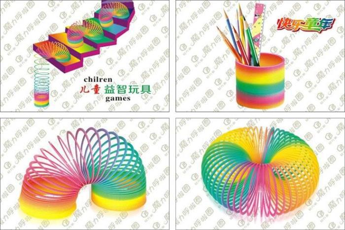 Fashion Colorful Rainbow Plastic Magic Slinky Children Classic Development Toy Educational Toy Kids Gift Free shipping<br><br>Aliexpress