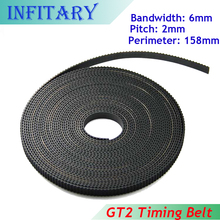 10 Meters Timing Belt GT2 6mm Width GT2 Belt 3D Printer Working 2GT Belt for Reprap Prusa i3 DIY 3d Printer Parts Kit