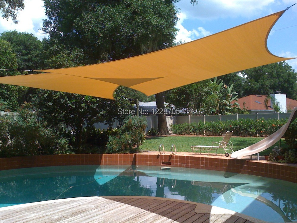 3 4m rectangle waterproof sun shade sails roof top canvas flexible garden shade for garden. Black Bedroom Furniture Sets. Home Design Ideas