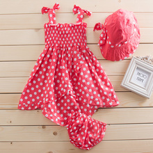 2015 summer baby girl skirt 3pcs cool suit skirt cap and underwear(China (Mainland))
