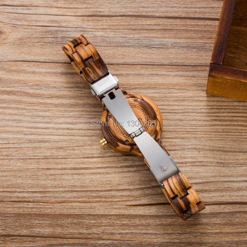 Новый Top Brand UWOOD Часы Дерево Часы Женщины Уникальные Часы Женщин Деревянные Часы Relogio Feminino Masculino