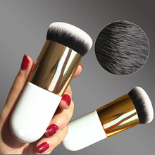New Chubby Pier Foundation Brush Flat Cream Makeup Brushes Professional Cosmetic Make-up Brush(China (Mainland))