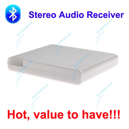 Factory Supply: 30pin A2DP Bluetooth V2.0 Music Audio Receiver Adapter for Dock Stations, iPhone / iPad speaker -- Free Shipping(China (Mainland))