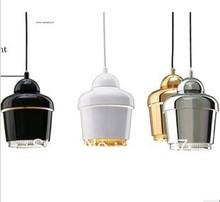NEW Modern artek single-head BLACK/GOLD/SILVER/WHITE 18cm E27 Iron pendant light lamp lighting fixture bedroom free shipping(China (Mainland))