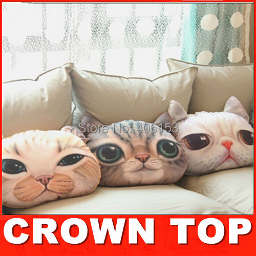 2015 new! Nordic Chair Pillow Personality Car Cushion Cover Creative Handsome Cat shape Nap pillow Cover Cute seat cushion 5236(China (Mainland))
