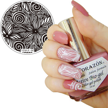 YZWLE 1 Pc Kaleidoscope Designs Nail Art Stamp Template Image Plate YZWLE Original Stamping Plates for Nails