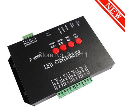 AA 1PC T-4000 T4000 SD Card controller T-4000 Full Color Programmable led pixel module For WS2811 WS2801 WS2812B 6803 1903 strip(China (Mainland))
