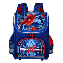 Primary Children Spiderman School Bags 2016 Kids Cartoon Backpack Boy Student Waterproof Orthopedic Schoolbags QY-839(China (Mainland))