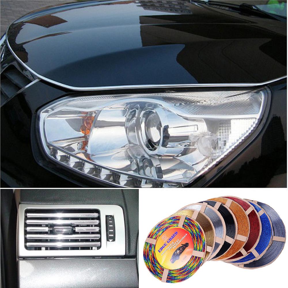 1M U Style DIY Car Interior Air Conditioner Decoration Strip Vent Grille Chrome Decor Strip Car Accessories Tool Car styling(China (Mainland))