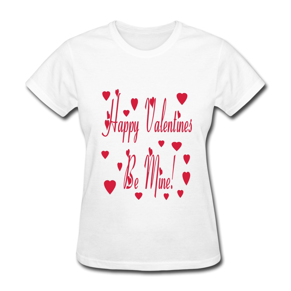 Printed Short Sleeve T Shirt Women Be Mine Valintines Day2