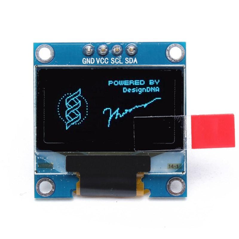 Hot New 1PC DC3V-5V 128x64 0.96 Inch 4Pin IIC I2C Blue OLED Display Module For Arduino 29.28 x 27.1 mm (LW)(China (Mainland))