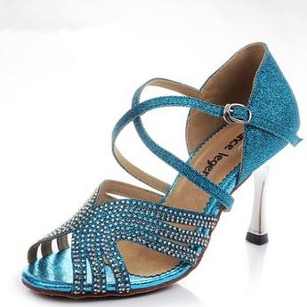 Brand Luxry Rhinestone Women's Ballroom/Latin/Salsa Dance Shoes EUR Size 33-39 8.5cm High Heel 1803#